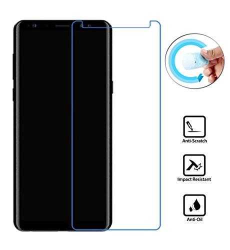 2x Panzerfolie für Samsung Galaxy Note 8 (SM-N950F) mit 6.3 Zoll Nano Schutzfolie Display Film Klarsicht