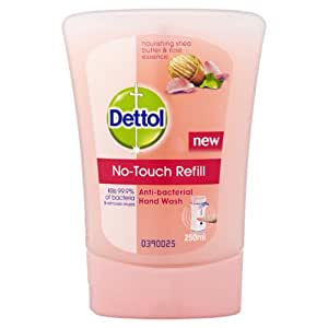 Dettol No Touch Refill Anti-Bacterial Hand Wash Nourishing Shea Butter and Rose Essence 250 ml
