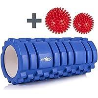 Maximo Fitness - Rodillo de espuma con diseño Trigger Point con 2 Bolas de Masaje, Azul, 14cm x 33cm