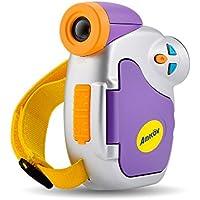 Amkov Camera 1080P Videocamera digitale per bambini Kid 1.44in DV-C7 Display colorato con più lingue per Natale