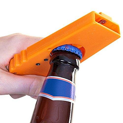 PIXNOR Flaschenöffner und Kronkorken Schleuder , Launcher Bier Flaschenöffner (Orange)