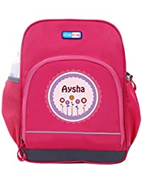 UniQBees Personalised School Bag With Name (Little Life Pre-School Backpack-Pink-Pink Flowers)