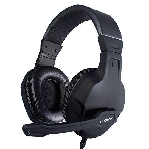 Gaming Headset, NUBWO U3 Stereo Wired PC Gaming Headset mit Rauschunterdrückungsmikrofon, Over-Ear Kopfhörer mit Mute Kontrol für PC, MAC, PlayStation 4, Xbox One, Android und iPhone- Black