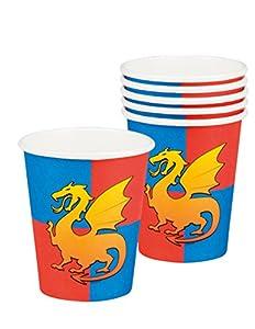 Boland- Vasos de cartón caballero, 6 unidades, 25 cl, multicolor, BOL44020