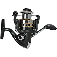 Wenquan,12 + 1BB Full Metal Fishing Spinning Carrete con Mango Intercambiable(Color:Gris Oscuro,Size:GA3000)
