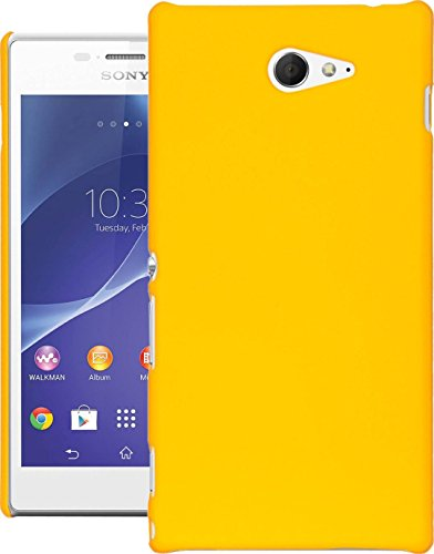 Cubix® Xperia M2 Dual Case, Super Slim Hard Back Cover for Sony Xperia M2 Dual Yellow  available at amazon for Rs.199