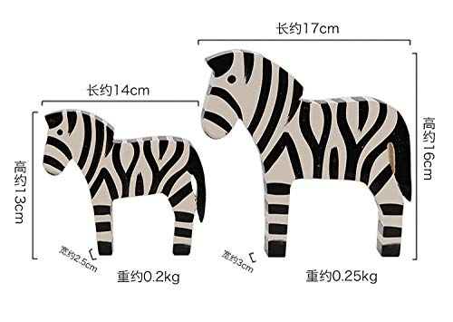 Holzhandwerk Bemalte Zebra Kreative Wohnaccessoires Student Geschenke Geburtstagsgeschenk Studie Wohnzimmer Dekoration Ornaments.A_Set_Of_Two_All_Have