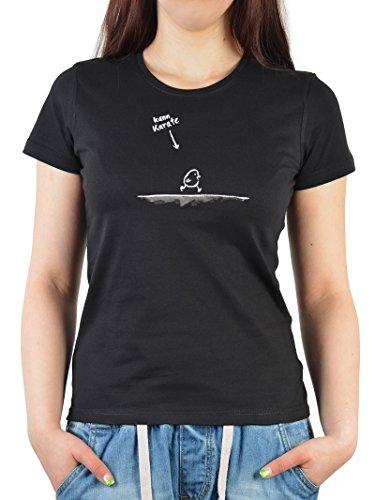 Unbekannt Witziges Sprüche Fun Damen T-Shirt :Kann Karate (Größe: S)
