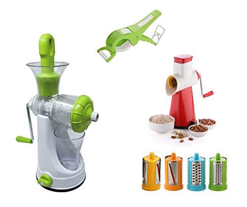 6 In 1 Vegetable Juicer & Drum Grater & Slicer & Vegetable Cutter With Peeler