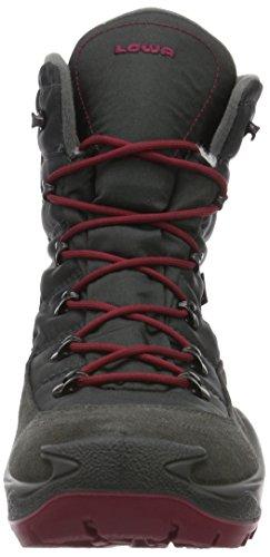 Lowa Rufus Iii Gtx Hi, Chaussures de Randonnée Hautes Mixte Enfant Gris (Anthrazit/beere Anthracite/berry)