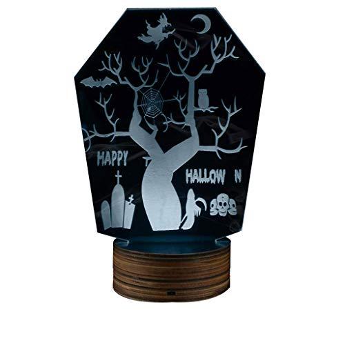(Holloween Horror Nachtlicht, Decor 3D LED USB Schreibtisch Tischlampe Neuheit Licht für Raumdekor)