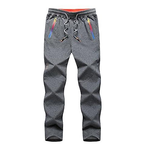 walk-leader Pantalon Jogging Course à Pied Pantalon de sport d'extérieur pour homme - gris - XXX-Large