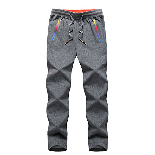 walk-leader da uomo pantaloni Jogging pantaloni Sport Outdoor Grey XXX-Large