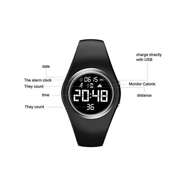 RCruning-EU Pulsera Actividad Impermeable IP68 Fitness Smartwatch Tracker Contador de Pasos, Contador de Calorías… 4