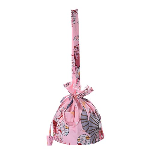 BLESSUME Niedlich japanisch Blumen Tasche Kimono Kordelzug Beutel (Traditionelle Kostüme Kimono)