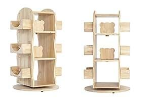 MesaSilla Kinder Bücherregal, Regal, drehbar, 100% Massivholz, Natur