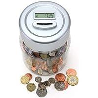 KING KARAN® Digital UK Coins Automatic Counting Money Box Jar LCD Display Transparent Large Capacity Gift for Kids UK SELLER