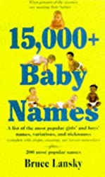15,000 Baby Names by Bruce Lansky (1997-06-02)