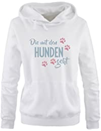 Kapuze Comedy Shirts Print-Pulli NORDSEE Anker K/ängurutasche Damen Hoodie Langarm