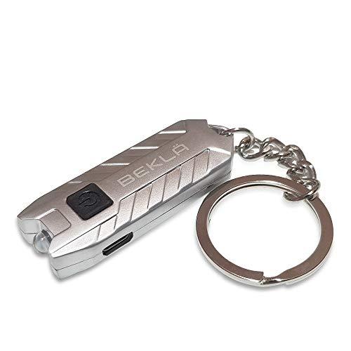 BEKLA wiederaufladbare LED-Schlüsselanhänger-Taschenlampe