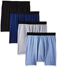 Hanes Men's Ultimate ComfortBlend Boxer Briefs with FreshIQ 4-Pack Bo