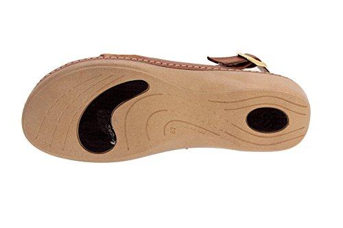 Schuh Damen Komfort Leder Piesanto 2810Sandale Sohle Abnehmbarer KM weitere Braun - Cuero
