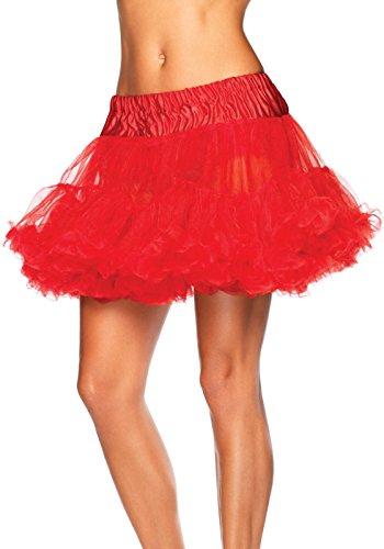 LEG AVENUE 8990X - Petticoat rot Kostüm Damen Karneval, Übergroße (EUR 46-50) Penthouse High Heel