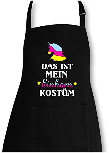 EZYshirt® Das ist mein Einhorn Kostüm Grillschürze (Schürze Geprüft)