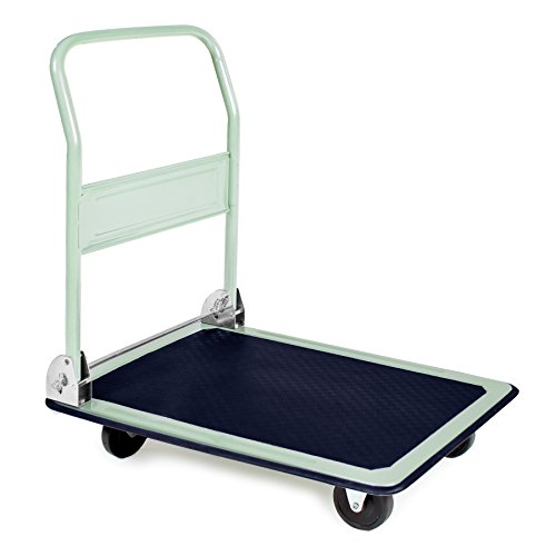 TecTake - Carretilla con plataforma (150 kg)