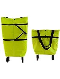 A rtistque Shopping Trolley Wheel Folding Travel Luggage Bag (Multicolour)
