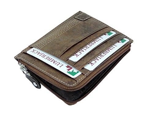 2d5dbb9e34 ... uomo in VERA PELLE Marrone Cognac con Cuciture - portafoglio Porta  Documenti porta Carte di credito. Visualizza le immagini