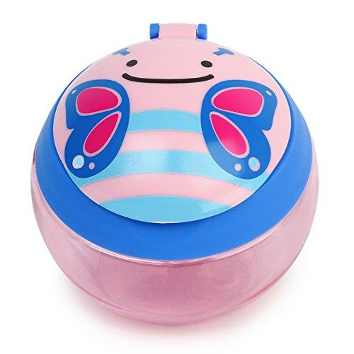 Skip Hop Zoo Snackcup, Snackbox, Aufbewahrungsbehälter für Kinder, mehrfarbig, Schmetterling Blossom