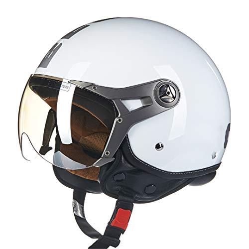O-Mirechros delle Donne degli Uomini del Casco del Motociclo Vintage Moto Casco Mezzo del Fronte del Casco ECE Approvato 7 L