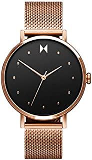 MVMT Women's Black Dial Ionic Rose Gold Plated steel Watch - 280000