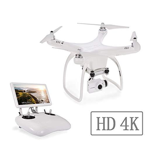 UPair One 4K HD-Kamera-Drohne mit 7-Zoll-Bildschirm, 5,8 GHz FPV-Monitor und Live-Video-Übertragung, Drohne mit GPS, Auto Return, Position Hold, Altitude Hold