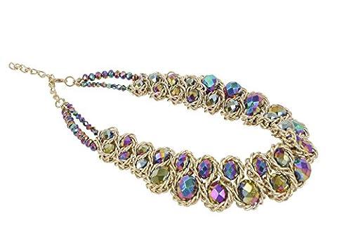 ShoppeWatch Ladies Chunky Choker Necklace Gold Tone Fashion Statement Big