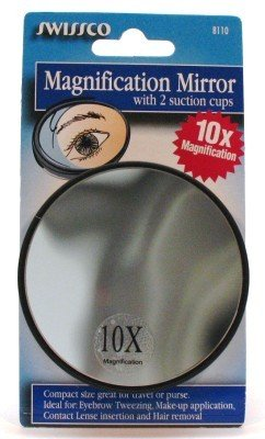 Swissco Mirror Magnifying with Suction Cup 10X (3-Pack) (Bad- & Kosmetikspiegel) -