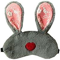 youkara Cute Kaninchen Ohr Eye Augenklappe Maske mit Eis Tasche für Frauen Damen Teens preisvergleich bei billige-tabletten.eu