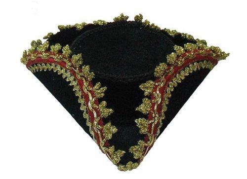 Bristol Novelty bh568Dreispitz Mini Hat, schwarz, one size (Mantel-und-degen-piraten Schwarzen)