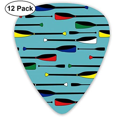 Ruder in Wasser Plektren 12er Pack, 3 Stärken einschließlich 0,46 mm, 0,96 mm, 0,71 mm