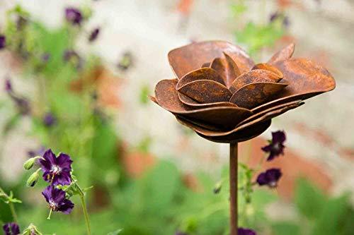 kuheiga Gartenstecker/Dekoblume Rose - 3