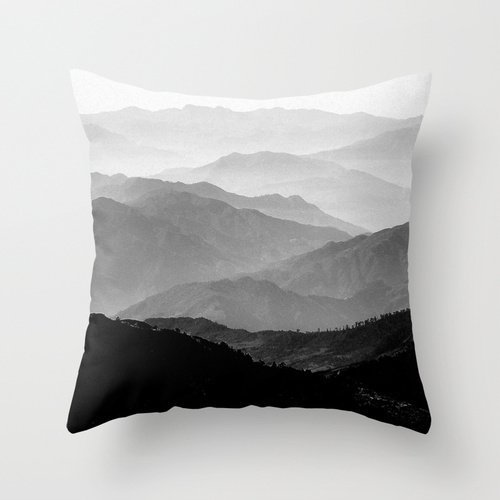 DEFFWBb Alphadecor Mountians Forest Pillow Covers 18 X 18 Inches / 45 by 45 cm for Outdoor,Wife,Relatives,Christmas,Floor,Couples with Twin Sides Mountian Horse