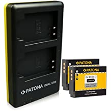 PATONA Dual Caricabatteria + 2x Batteria EN-EL12 per Nikon CoolPix AW100 P300 P330 S70 S610 S620 S640 S800c S1000pj S1200pj S6000 S6100 S6400 S8000 S9100 S9300 S9500 con micro USB