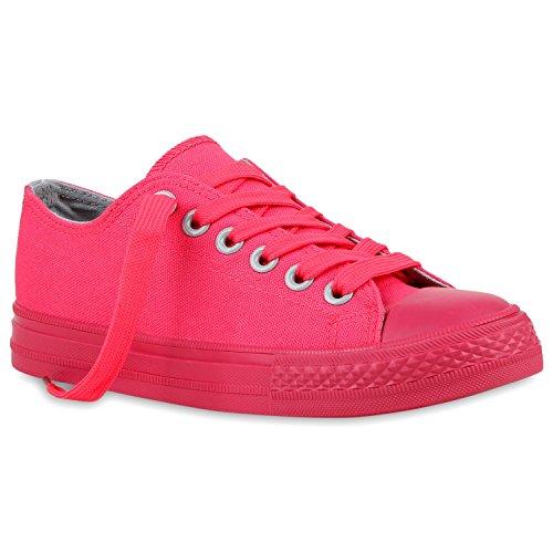 Trendige Unisex Sneakers   Low-Cut Modell   Basic Freizeit Schuhe   Viele Farben   Gr. 36-45 Pink