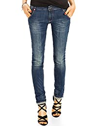 Bestyledberlin Damen Regular Fit Jeans, Basic Denim Hose, Jeanshose Straight Leg j46i