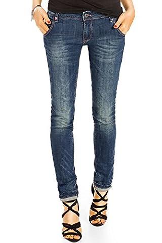 Bestyledberlin Damen Regular Fit Jeans, Basic Denim Hose, Jeanshose Straight Leg j46i 38/M