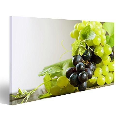 islandburner Bild Bilder auf Leinwand Grape.Grapevine über Weinberghintergrund Wandbild, Poster, Leinwandbild IWM