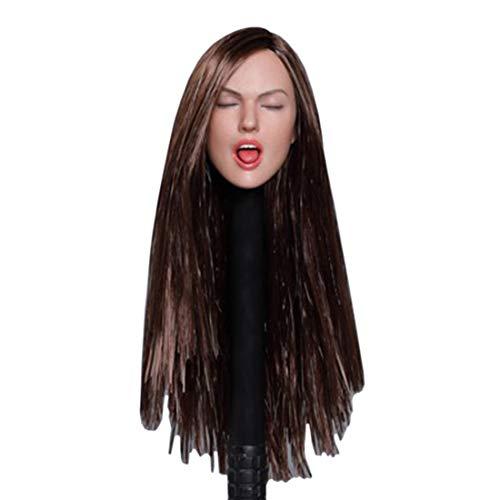 Haut Kostüm Für Braune - Batop Weibliche Kopf Sculpt mit Lange braune Haare für 1/6 Action Figuren Weiblich