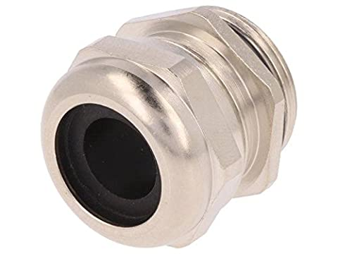 HUMMEL-1106250150 Cable gland M25 IP68 Mat brass Body plating nickel HUMMEL