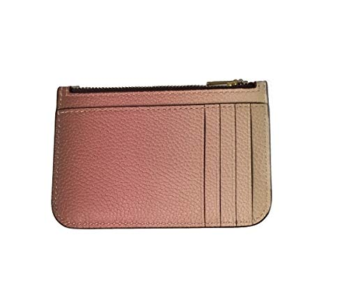 COACH Women's Ombre Zip Card Case Pink Multi/Gold One Size
